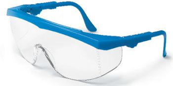 Tomahawk Safety Glasses with Blue Frame and Clear Lens