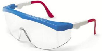 Tomahawk Safety Glasses with RWB Frame and Clear Lens