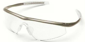 Tremor Safety Glasses with Taupe Frame and Clear Lens