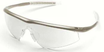 Tremor Safety Glasses with Taupe Frame and Indoor/Outdoor Lens