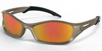 Tribal Safety Sunglasses with Champagne Frame and Fire Mirror Lens
