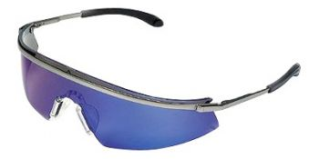 MCR Triwear Metal Safety Glasses Blue Diamond Mirror Lens 1/DZ