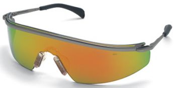 MCR Triwear Metal Safety Glasses with Fire Mirror Lens 1/DZ