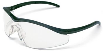 Triwear Safety Glasses with Onyx Frame and Clear Anti-Fog Lens