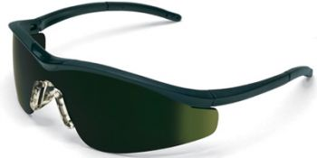 Triwear Safety Glasses with Onyx Frame and Green 5.0 IR Lens