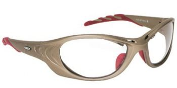 Fuel 2 Safety Glasses with Metallic Frame and Clear Anti-Fog Lens