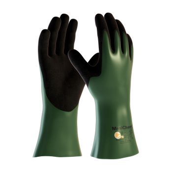 """PIP 56-633/L ATG Nitrile Blend Coated Glove with HPPE Liner and Non Slip Grip on Palm & Fingers 12"""" Large 6 DZ"""