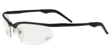 OCC204 Safety Glasses with Black Aluminum Frame and Clear Anti-Fog Lens