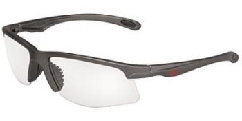 OCC703 Safety Glasses with Metalik Gun Metal Gray Temples and Indoor/Outdoor Mirror Lens