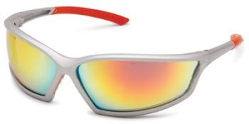 Gateway 4x4 with 1236 Frame and Red Mirror Lens Safety Glasses 12 Pairs
