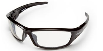 Edge Reclus Safety Glasses with Black Frame and Anti-Reflective Indoor/Outdoor Lens