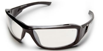 Edge Brazeau Safety Glasses with Black Frame and Anti-Reflective Indoor/Outdoor Lens