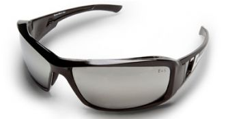 Edge Brazeau Safety Glasses with Black Frame and 1236 Mirror Lens