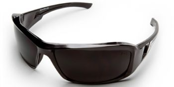 Brazeau Safety Glasses with Black Frame and Smoke Lens
