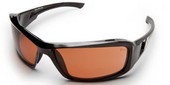 Brazeau Safety Glasses with Black Frame and Copper Lens