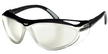 Jackson Safety Envision Safety Glasses with Black Frame and Indoor/Outdoor Lens 12 Pairs
