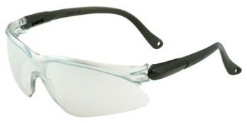Jackson Safety Visio Safety Glasses with Black Temple and Indoor/Outdoor Mirror Lens 12 Pairs