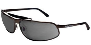 10X Safety Glasses with Bronze Frame and Smoke Lens