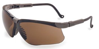 Genesis Safety Glasses with Earth Frame and Espresso Lens