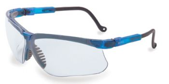 Genesis Safety Glasses with Vapor Blue Frame and Clear Lens
