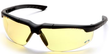 Reatta Safety Glasses with Charcoal Frame and Amber Lens