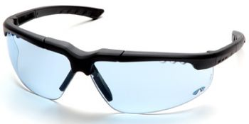 Reatta Safety Glasses with Charcoal Frame and Infinity Blue Lens