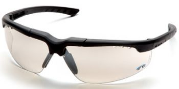 Reatta Safety Glasses with Charcoal Frame and Indoor/Outdoor Mirror Lens