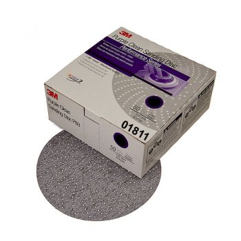 3M™ Hookit™ Purple Clean Sanding Disc 334U, 01811, 6 in, P400, 50 discs per carton, 4 cartons per case
