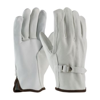 PIP 68-158 Superior Grade Leather Pull Strap Driver's Glove - Straight Thumb 120/Pair