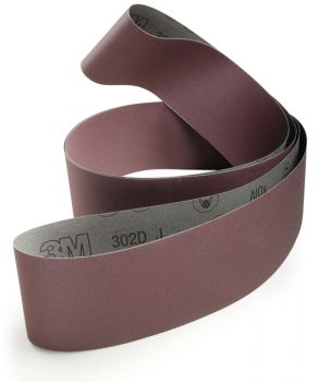 3M™ Cloth Belt 302D, 2 in x 132 in P400 J-weight, 25 per inner 50 per case