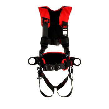 3M Protecta Comfort Construction Style Positioning Harness 1161205, Black, Medium/Large