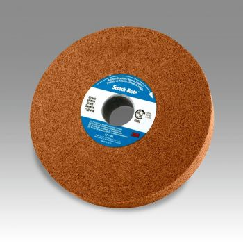 Scotch-Brite™ Cut and Polish Unitized Wheel, 3 in x 1/4 in x 1/4 in 7A MED, 40 per case