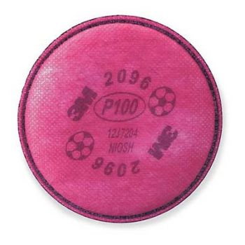 3M™ Particulate Filter 2096, P100, with Nuisance Level Acid Gas Relief (1 Pair)