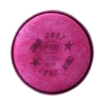3M 2097 P100 Particulate Filter with Nuisance Level Organic Vapor Relief, 1 Pair