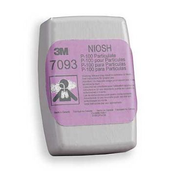 3M 7093B P100 Particulate Filter, Bag of 2 Eaches
