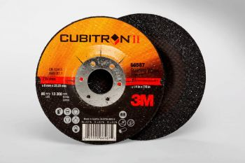 3M™ Cubitron™ II Depressed Center Grinding Wheel, (78466-Q), T27, 4-1/2 in x 1/4 in x 7/8 in, 10 per inner, 20 per case
