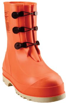 Tingley Hazproof Boot Orange Upper Cream Outsole Ht. 11 in Steel Toe Sure Grip Outsole