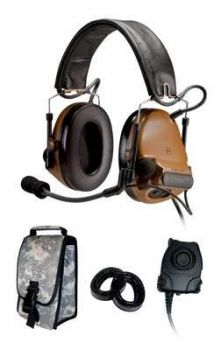 Peltor ComTac III ACH Headset Kit, Single Comm, Neck Band - COYOTE BROWN