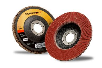 3M™ Cubitron™ II Flap Disc 967A, T27, 4-1/2 in x 7/8 in, 40+, 10 per case