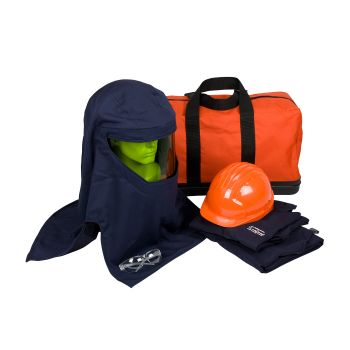 PIP PPE 3 Arc Flash Kit - 25 Cal/cm2 Coverall Carry Bag Blue Color