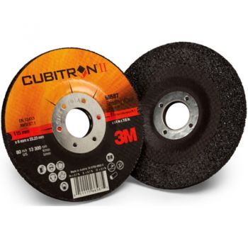 3M™ Cubitron™ II Cut and Grind Wheel, 28762, T27 Quick Change, 4 1/2 in x 1/8 in x 5/8-11 in, 10 per inner, 20 per case
