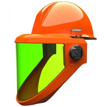 Salisbury AS2000HAT Arc Flash Shield 20 Cal Hard Hat Polyethylene Material Orange Color One Size - 1 / EA