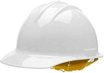 Bullard® White HDPE Cap Style Hard Hat With 6 Point Pinlock Suspension