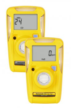 Honeywell BW Clip 3-Year Detectors BWC3-H* Hydrogen sulfide (H2S) 10 ppm 15 ppm 1.6 ppm 20 ppm 0-100 ppm
