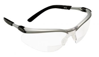 3M™ BX™ Reader Protective Eyewear 11376-00000-20, Clear Lens, Silver Frame, +2.5 Diopter