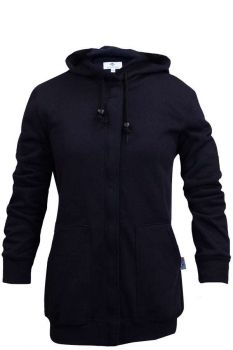 NSA C21IF05W Navy Heavyweight Women's Zip Front FR Sweatshirt