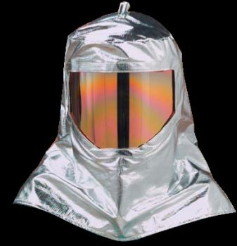 Wide-View Aluminized Para-Aramid Lined Hood with Need-Punched Nomex