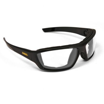 DEWALT Converter- Clear Anti-Fog Lens Safety Glasses Full Frame Style Black Color - 12 Pairs / Box