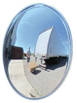 "Domes and Mirrors by Se-Kure DCVO-16T-4DP-PB 16""  Outdoor Wide View Convex Mirror 4"" Deep"