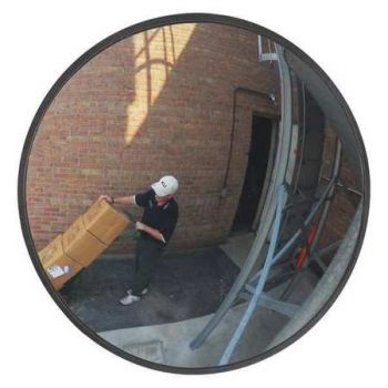 "Domes and Mirrors by Se-Kure SCVO-12Z-PB 12"" Indoor/Outdoor Convex Mirror"